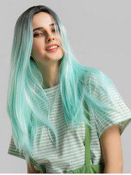 Long Synthetic Straight Center Part Ombre Cosplay Wig -