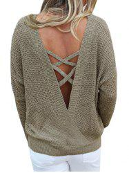 Criss Cross Drop Shoulder Convertible Sweater -