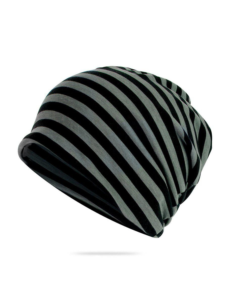 Latest Striped Print Knitted Outdoor Hat