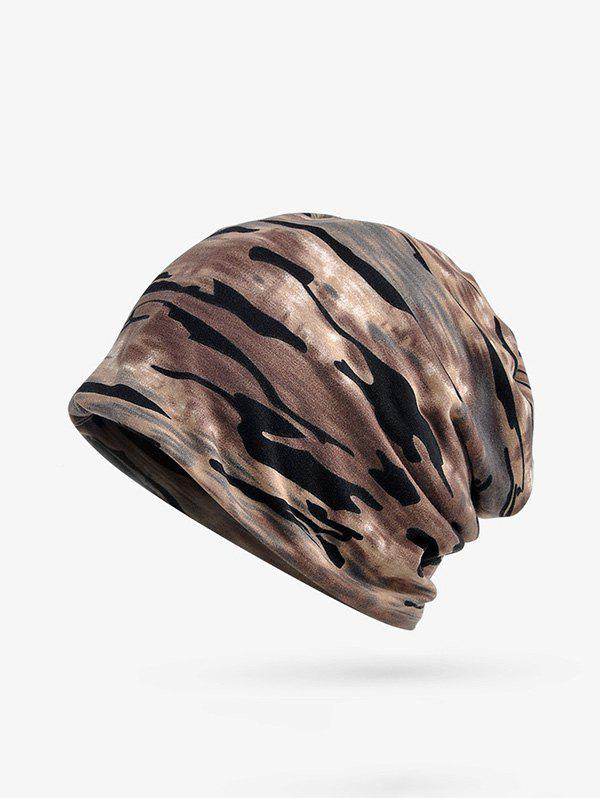 Trendy Camouflage Print Elastic Double Use Scarf Hat