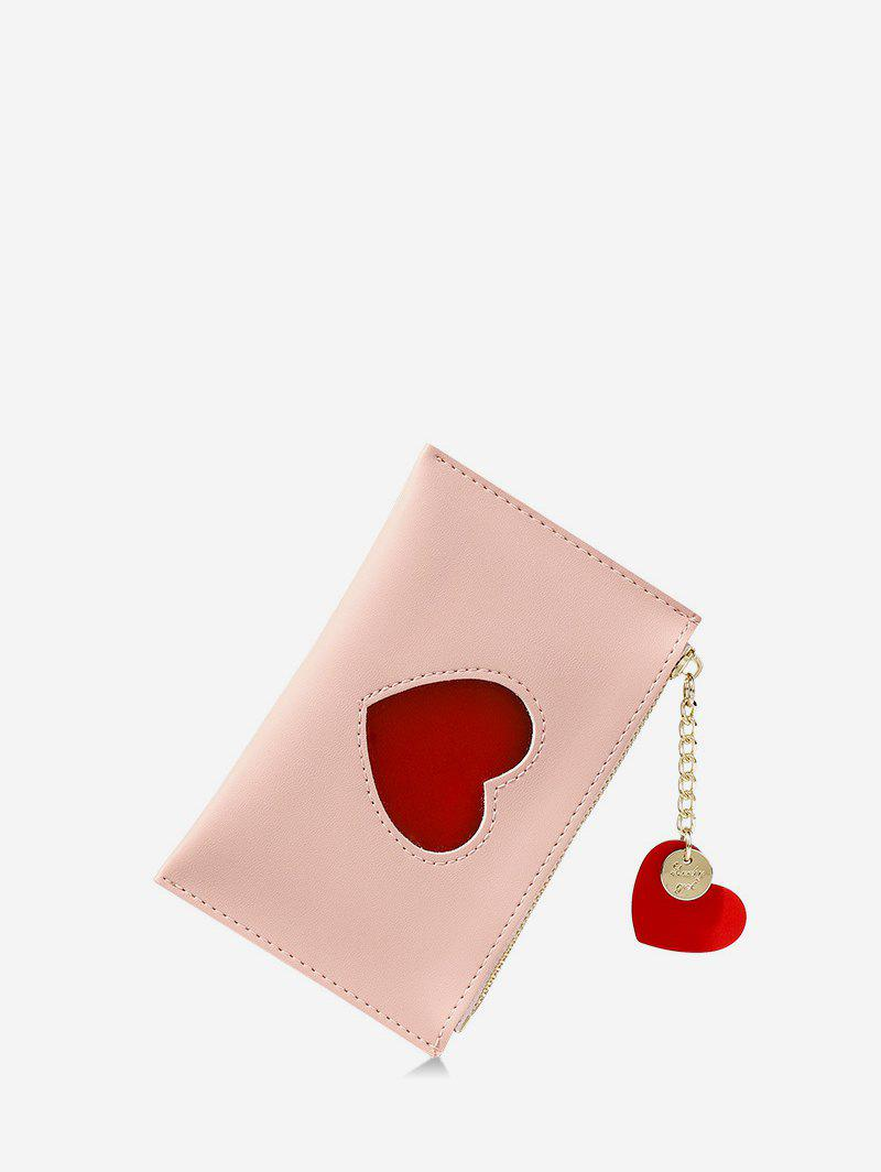 Fancy Pendant Heart Pattern Card Coin Purse