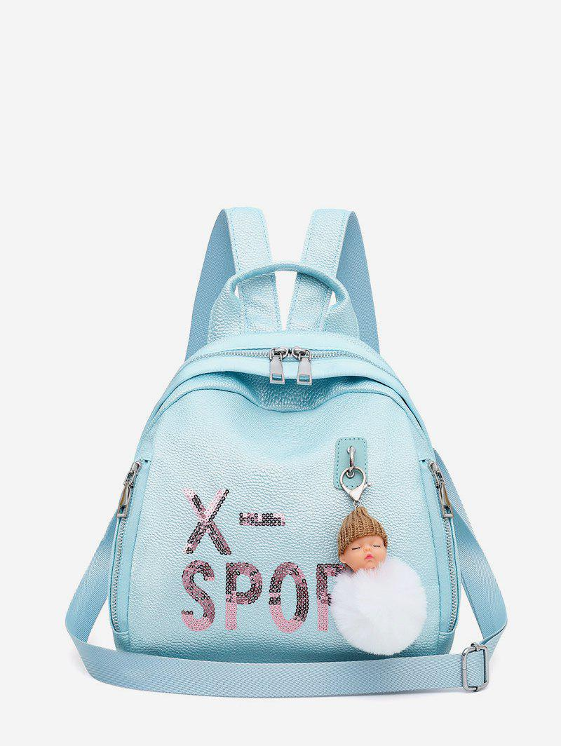 Affordable Dull Pendant Small Leather Travel Casual Backpack