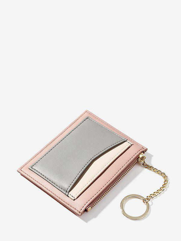 Outfits PU Leather Zipper Key Ring Card Bag