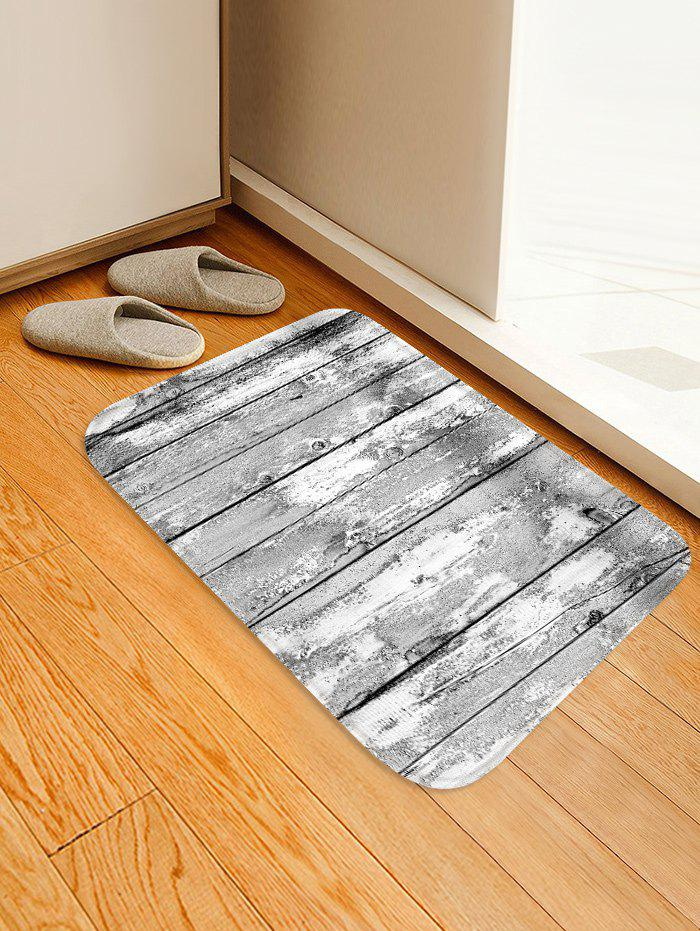 Chic Wooden Board Patterned Water Absorption Area Rug