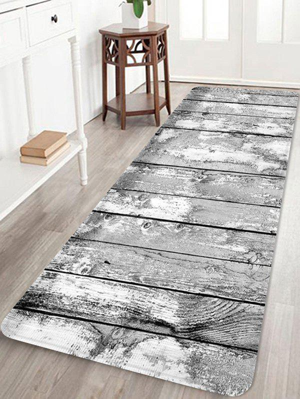 Affordable Wooden Board Patterned Water Absorption Area Rug