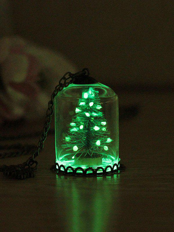 Best Christmas Tree Glass Cover Luminous Chain Pendant Necklace