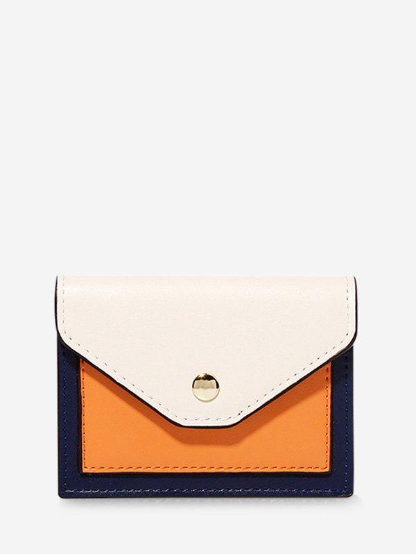 Outfits PU Color-blocking Card Wallet