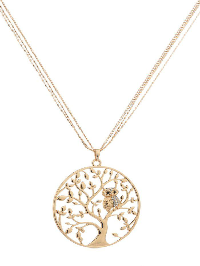Buy Owl Tree Design Alloy Chain Necklace