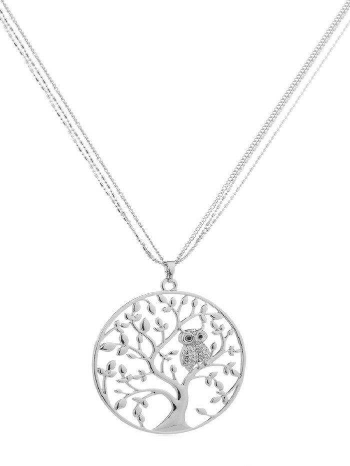 Latest Owl Tree Design Alloy Chain Necklace