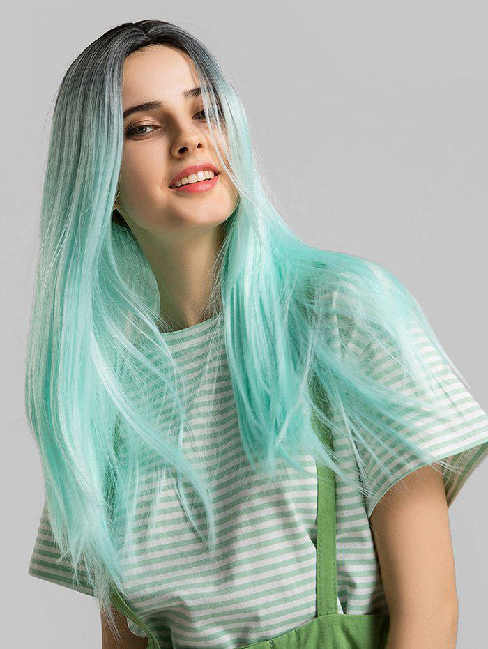 Outfit Long Synthetic Straight Center Part Ombre Cosplay Wig