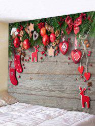 Christmas Decorations Wooden Board Print Tapestry Wall Hanging Art -