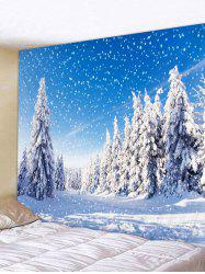 Snow Tree Pattern Tapestry -