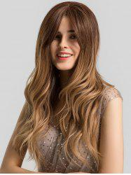 Ombre Long Wavy Center Part Synthetic Wig -
