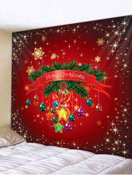 Christmas Ball Star Pattern Tapestry -