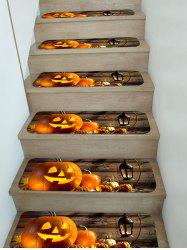 5Pcs Halloween Pumpkin Stair Tread Rugs Set -