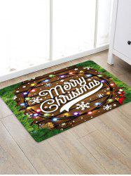 Merry Christmas Wooden Print Floor Rug -