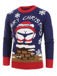 Christmas Santa Claus Pattern Pullover Sweater -