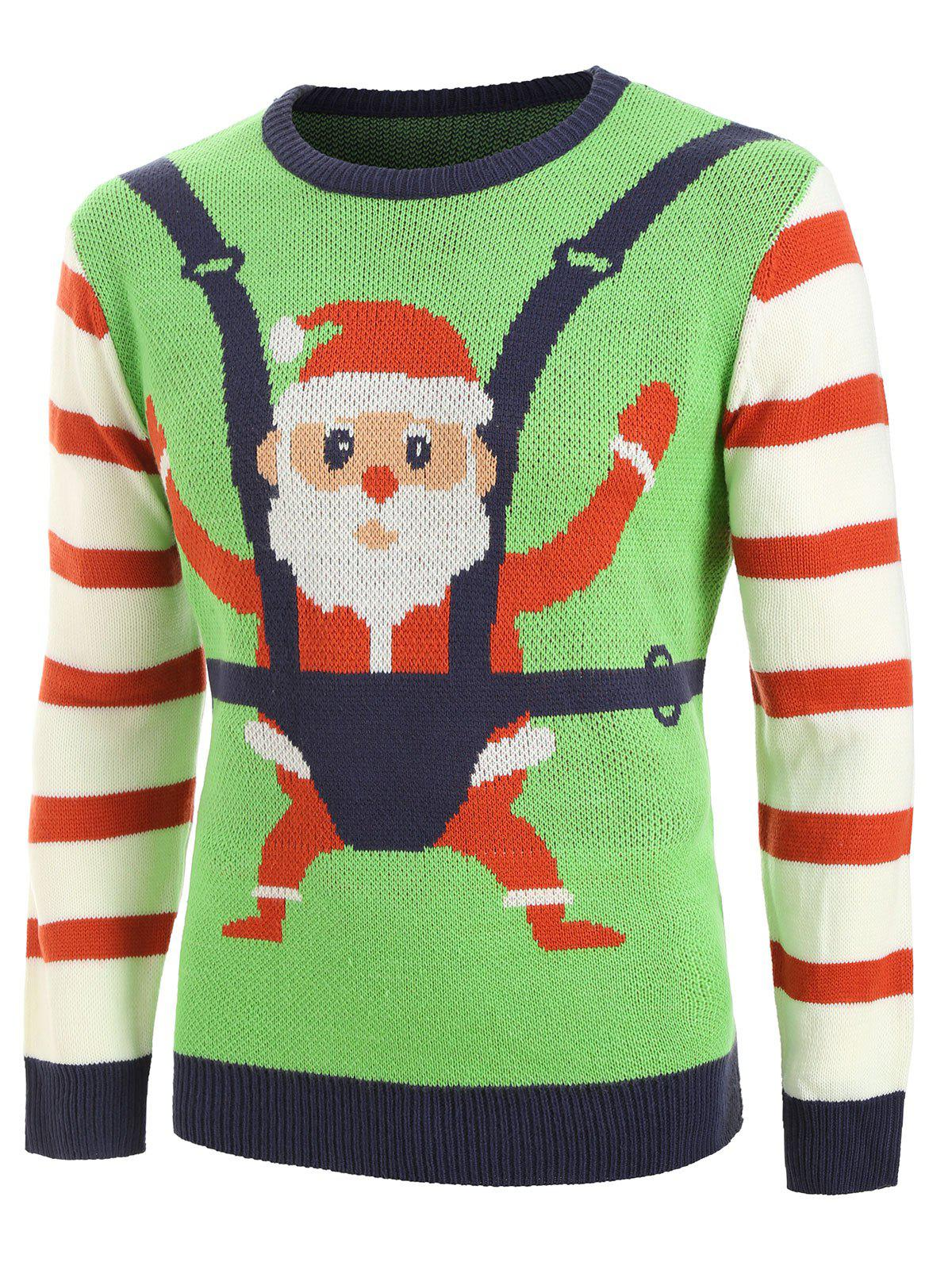 Outfit Santa Claus Pattern Ugly Sweater