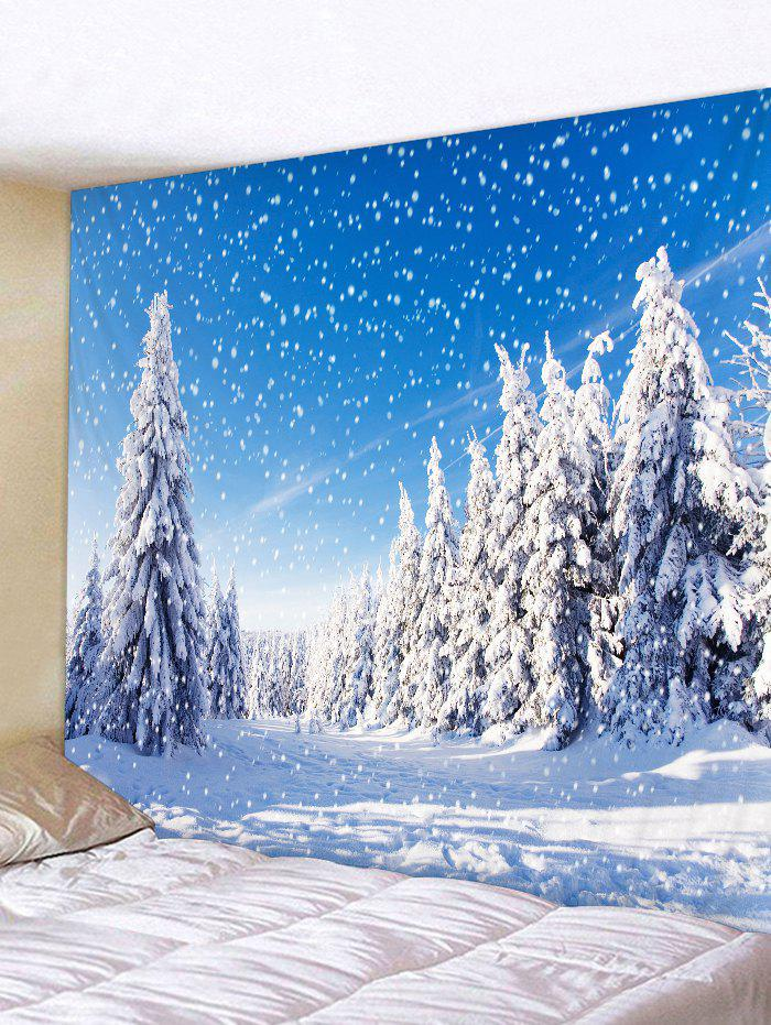 Shop Snow Tree Pattern Tapestry