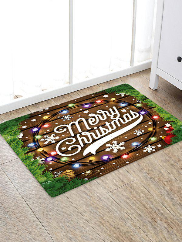 Store Merry Christmas Wooden Print Floor Rug