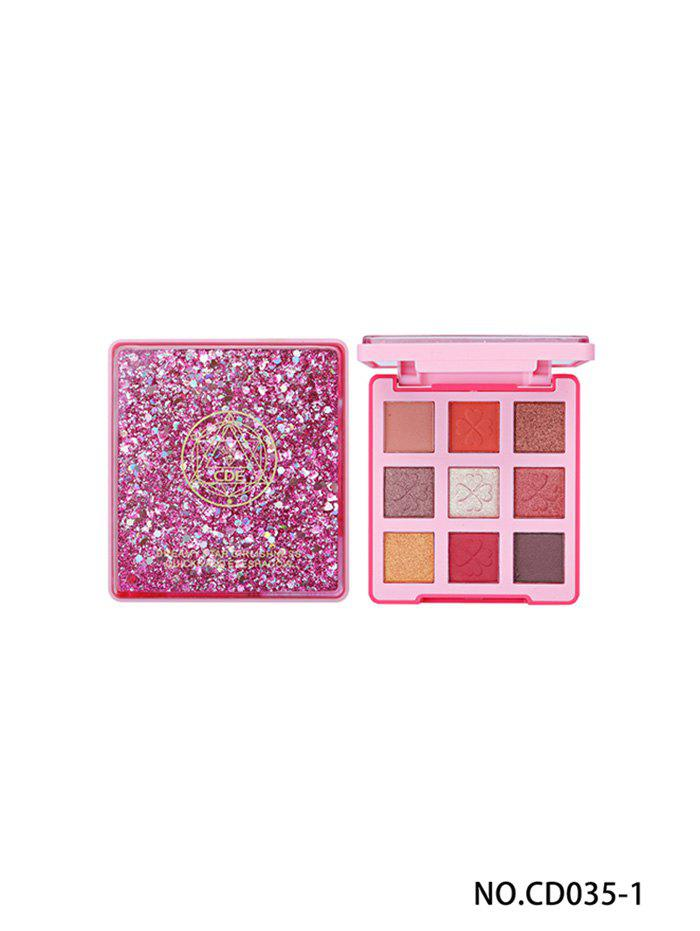 Shops 9 Colors Lasting Natural Professional Glitter Eye Makeup Eye Shadow Compact
