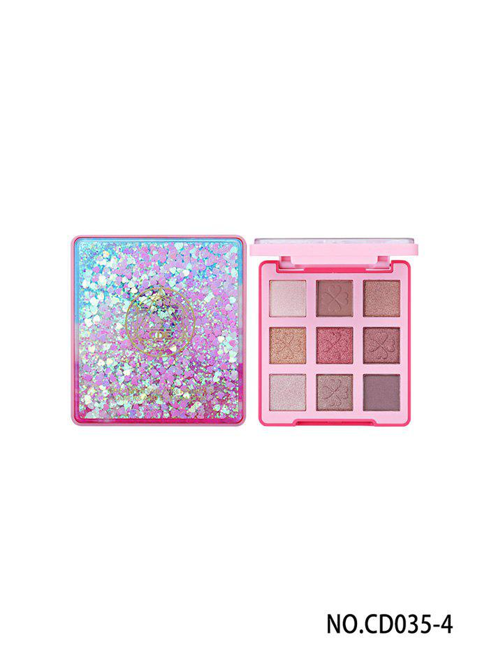 Best 9 Colors Lasting Natural Professional Glitter Eye Makeup Eye Shadow Compact