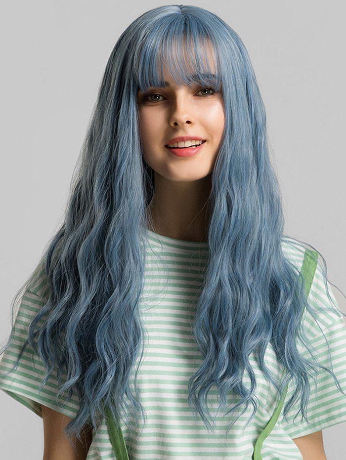 Outfits See-through Bang Long Wavy Synthetic Party Wig