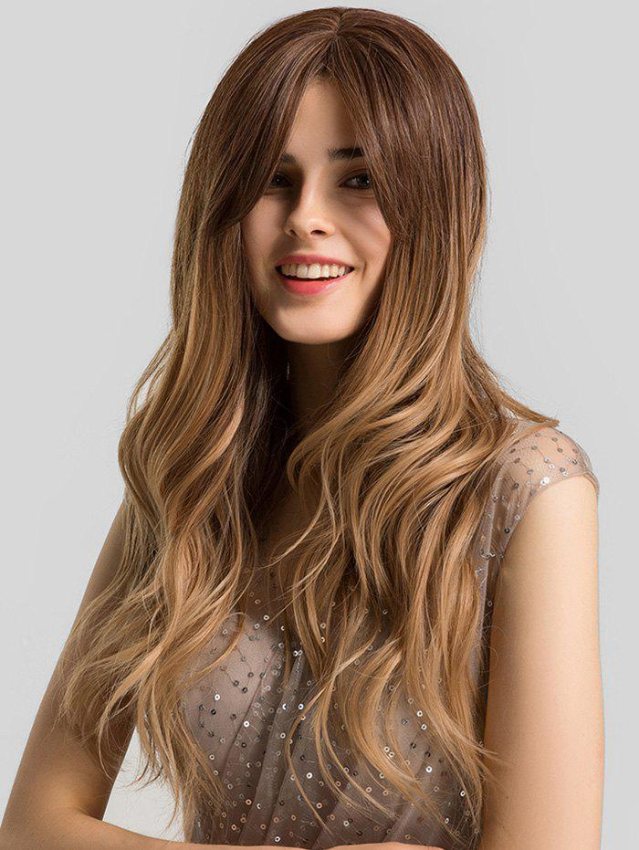Latest Ombre Long Wavy Center Part Synthetic Wig