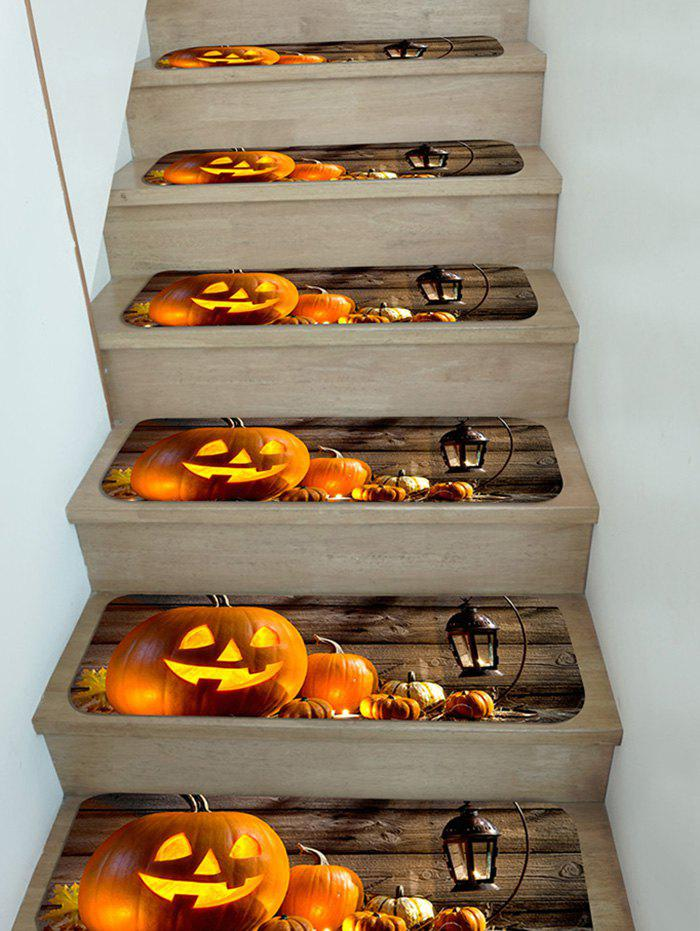 Fashion 5Pcs Halloween Pumpkin Stair Tread Rugs Set