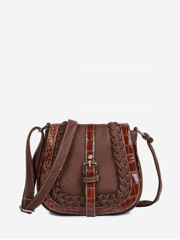 Buckle Design Saddle Shape Shoulder Bag