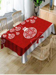 Christmas Snowflake Ball Print Fabric Waterproof Tablecloth -