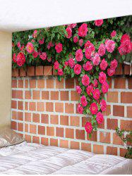 Flowers and Wall Print Art Decoration Wall Tapestry -