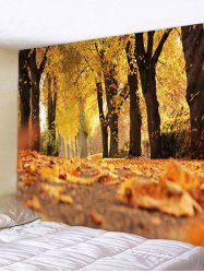 Fallen Leaves Print Art Decoration Wall Tapestry -