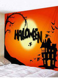 Halloween Witch Castle Pattern Tapestry -