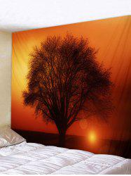 Sunset Tree Printed Pattern Tapestry -