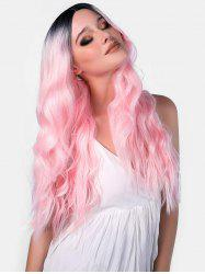 Ombre Long Synthetic Center Part Body Wavy Wig -