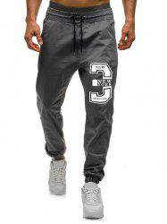 Number Three Graphic Casual Jogger Pants -