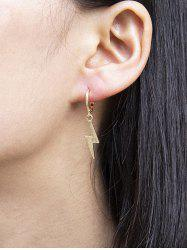 Lightning Pendant Huggie Drop Earrings -