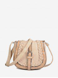 Buckle Design Saddle Shape Shoulder Bag -