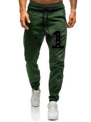 Number One Graphic Drawstring Jogger Pants -