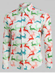 Deer Pattern Long Sleeves Casual Shirt -