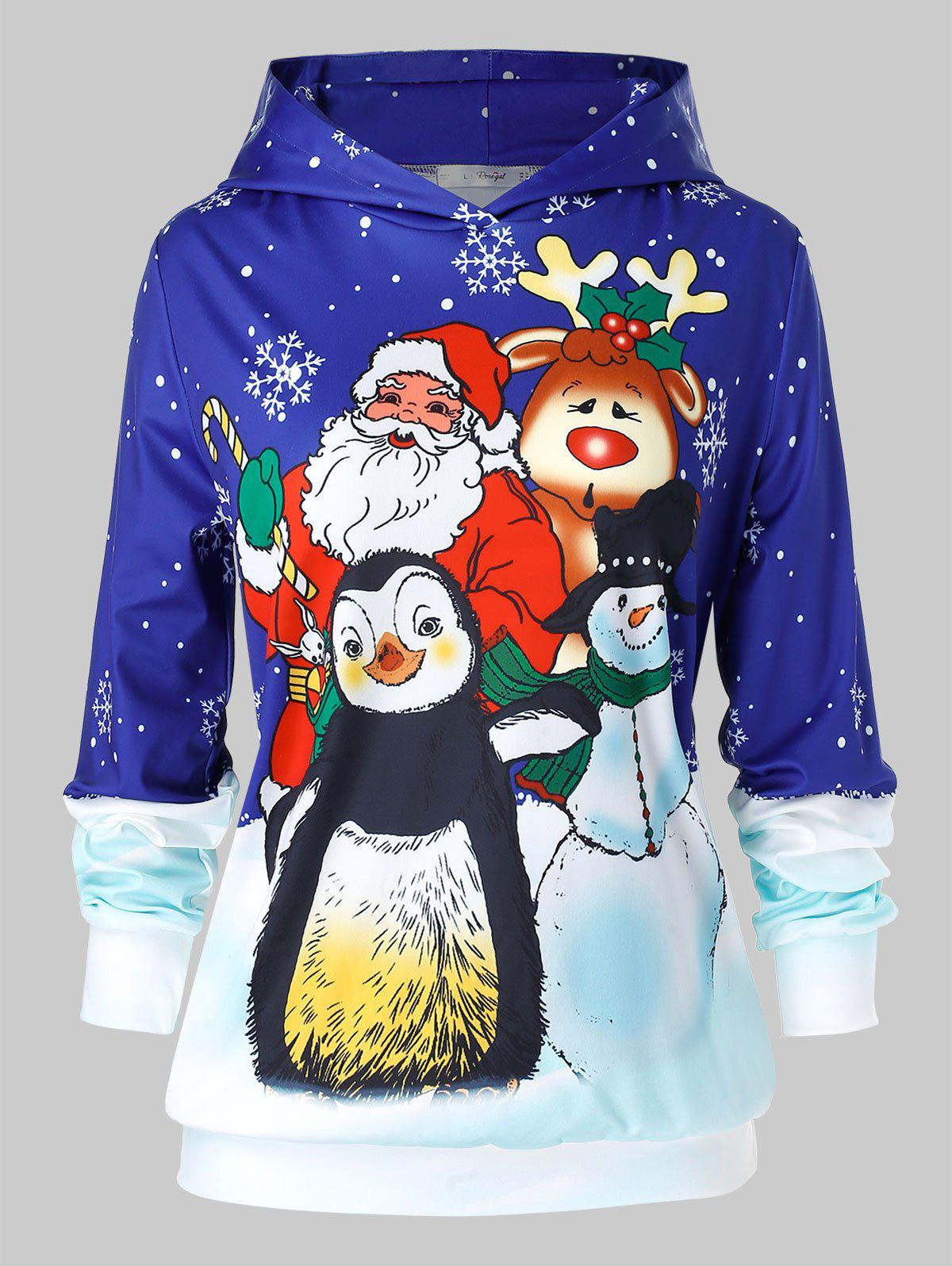 Latest Plus Size Printed Christmas Hoodie