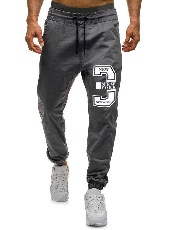 Chic Number Three Graphic Casual Jogger Pants