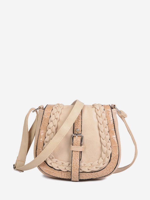 Shops Buckle Design Saddle Shape Shoulder Bag