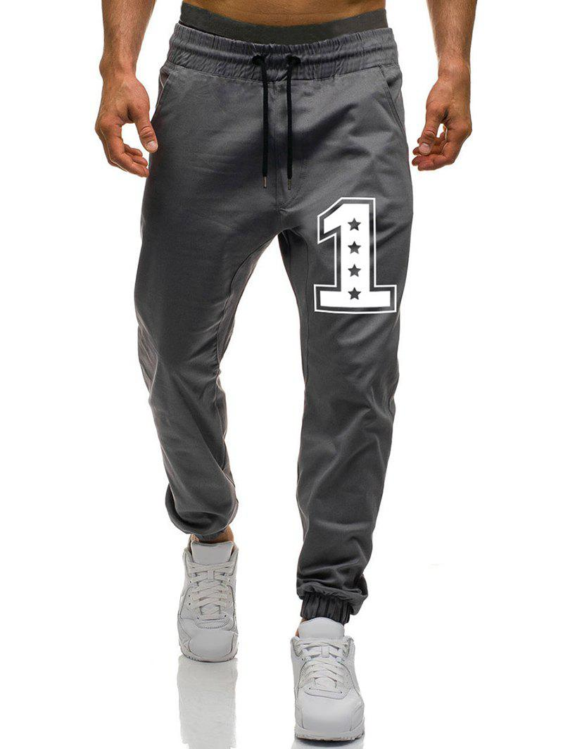 Pantalon de Jogging Graphique à Cordon