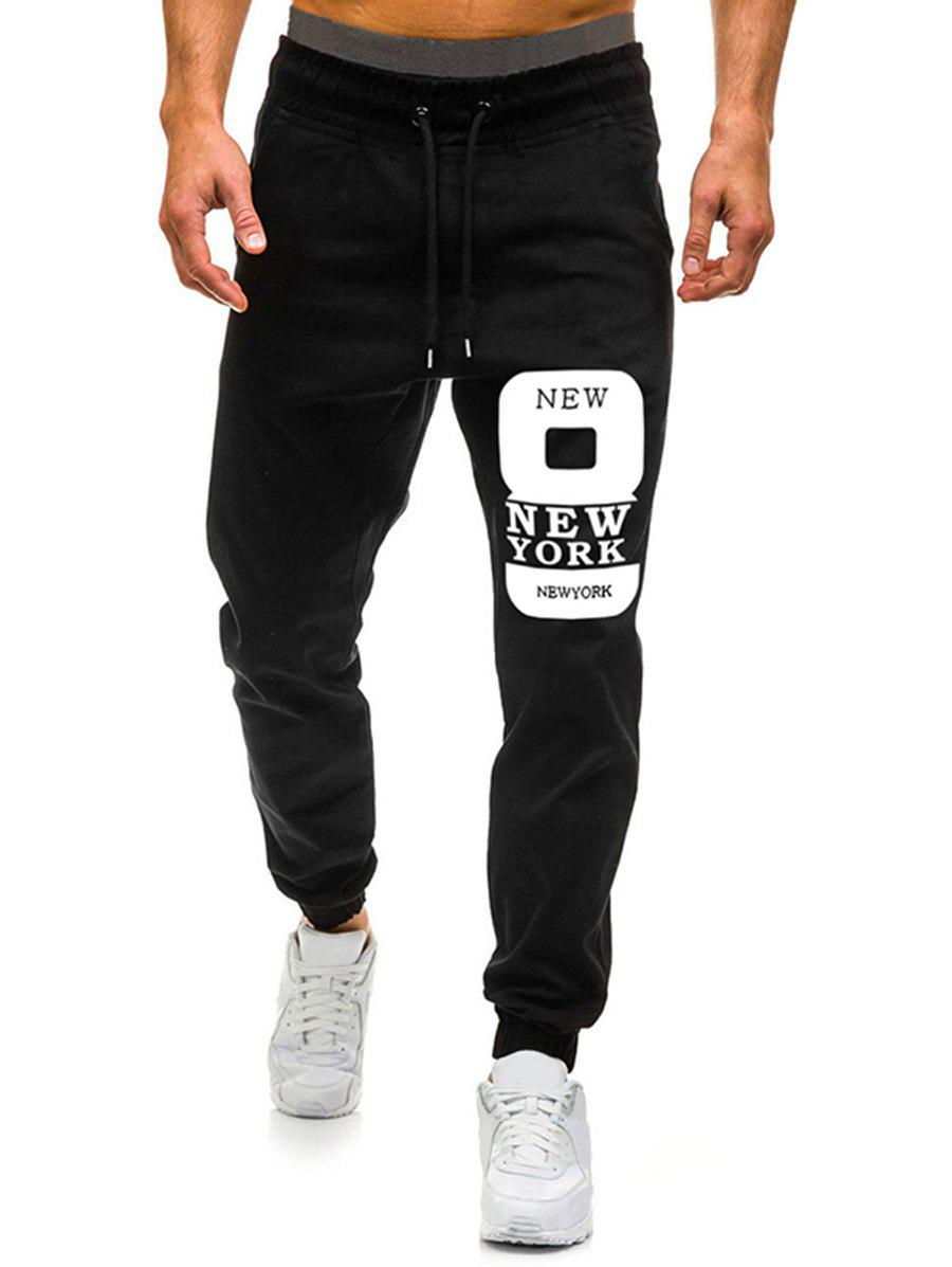 Chic Number Eight Graphic Casual Jogger Pants