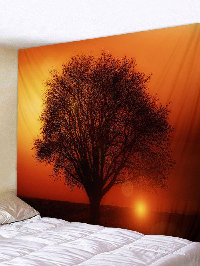 Hot Sunset Tree Printed Pattern Tapestry