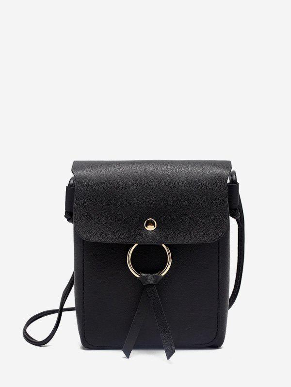 Cheap O-ring Mini PU Leather Crossbody Bag