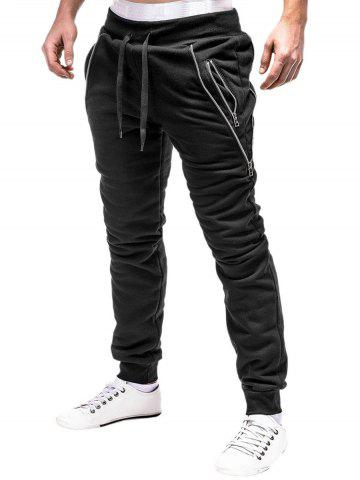 Zipper Design Sport Jogger Pants