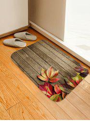 Maple Leaf Wooden Pattern Floor Rug -